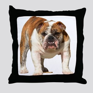Bulldog Items Throw Pillow