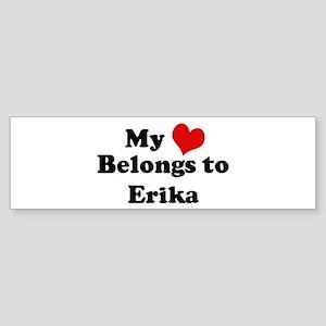 My Heart: Erika Bumper Sticker