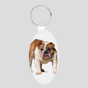 Bulldog Items Aluminum Oval Keychain