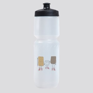 Funny Smores Camping Cartoon Sports Bottle