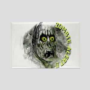 zombie alert Rectangle Magnet