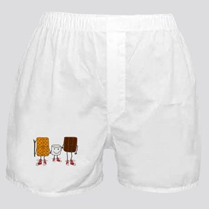 Funny Smores Camping Cartoon Boxer Shorts