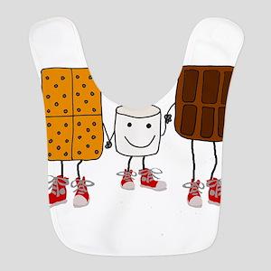 Funny Smores Camping Cartoon Polyester Baby Bib