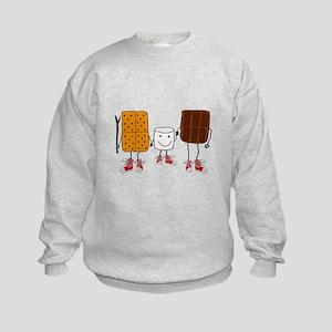 Funny Smores Camping Cartoon Sweatshirt