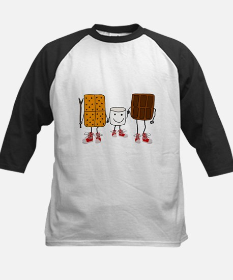 Funny Smores Camping Cartoon Baseball Jersey