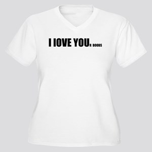 I LOVE YOUr boobs Women's Plus Size V-Neck T-Shirt