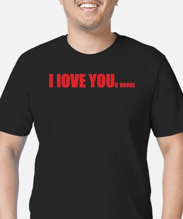 I LOVE YOUr boobs Men's Fitted T-Shirt (dark)