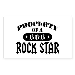 Property of a Rock Star Rectangle Decal