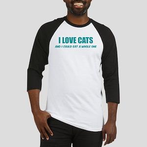 I love cats Baseball Jersey