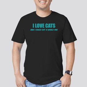 I love cats Men's Fitted T-Shirt (dark)
