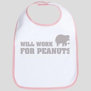Will work for peanuts Bib