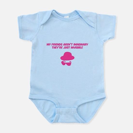 My friends aren't imaginary Infant Bodysuit
