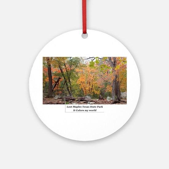 Lost Maples 002 Round Ornament