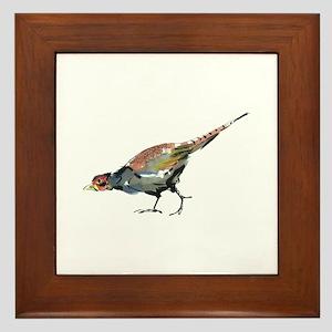Pheasant Framed Tile