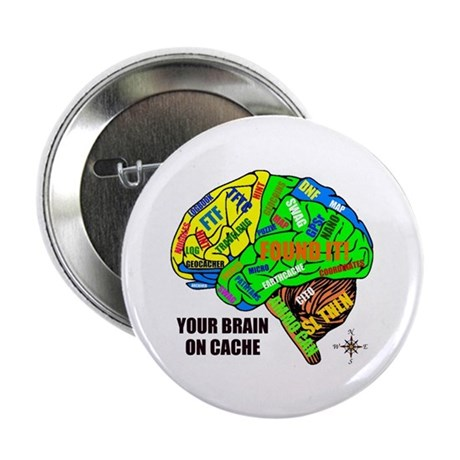 """Your Brain on Cache 2.25"""" Button (10 pack)"""