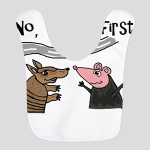 Armadillo and Possum Cartoon Polyester Baby Bib