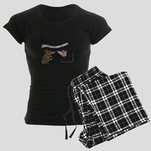 Armadillo and Possum Cartoon Pajamas