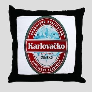 Croatia Beer Label 1 Throw Pillow