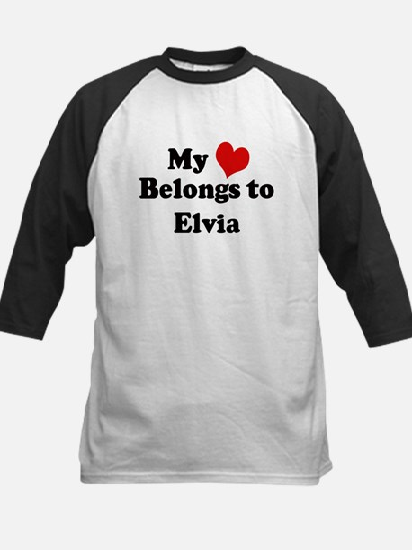 My Heart: Elvia Kids Baseball Jersey
