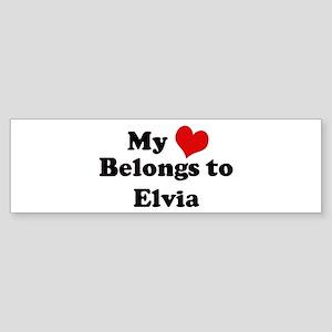 My Heart: Elvia Bumper Sticker