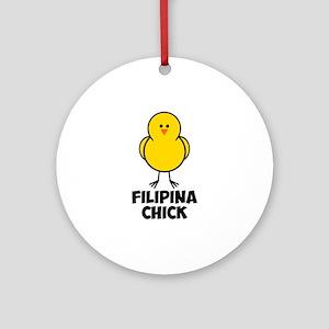 Filipina Chick Ornament (Round)