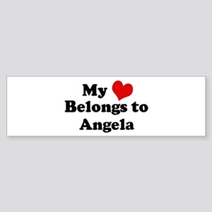 My Heart: Angela Bumper Sticker