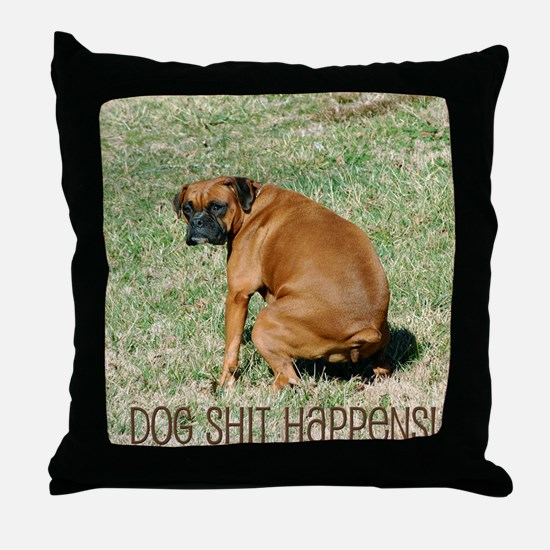 Funny Shit Throw Pillow