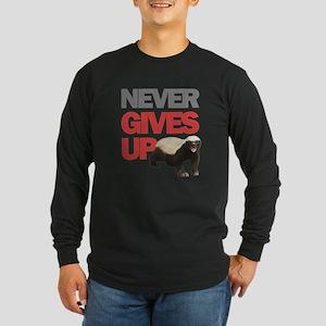 Honey Badger Don't Care Long Sleeve Dark T-Shirt