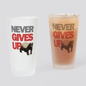 Honey Badger Don't Care Drinking Glass