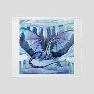 Ice Dragon Fantasy Art by Molly Harrison Throw Bla