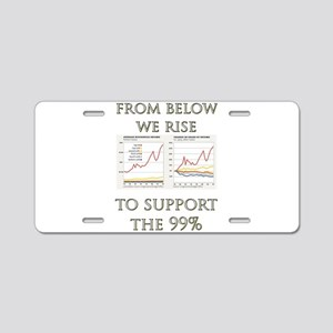 We Rise in Support Aluminum License Plate