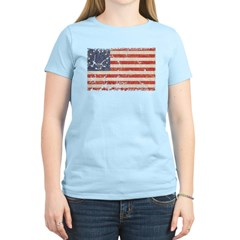 13 Colonies US Flag Distresse Women's Light T-Shir