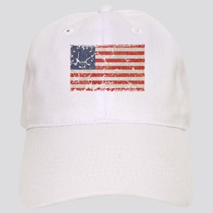 13 Colonies US Flag Distresse Cap