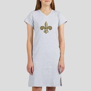 Fleur De Lis Black Gold Women's Nightshirt T-S
