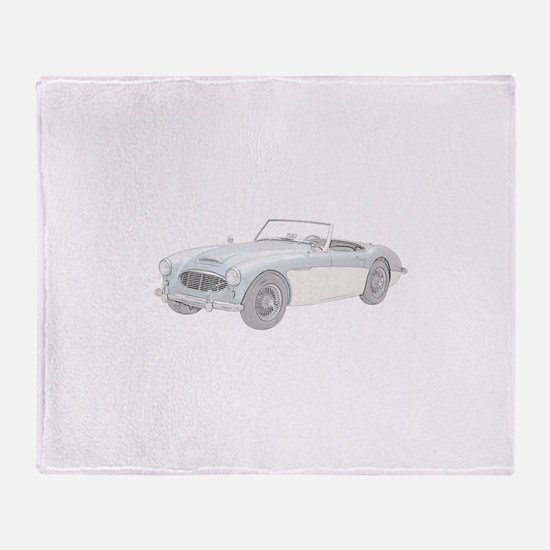 Austin Healey 3000 Mark I - 1960 Throw Blanket