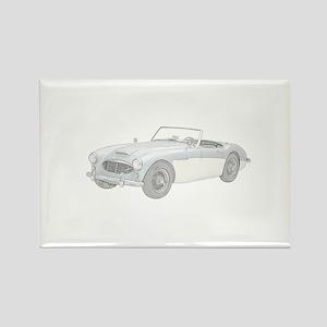 Austin Healey 3000 Mark I - 1960 Rectangle Magnet