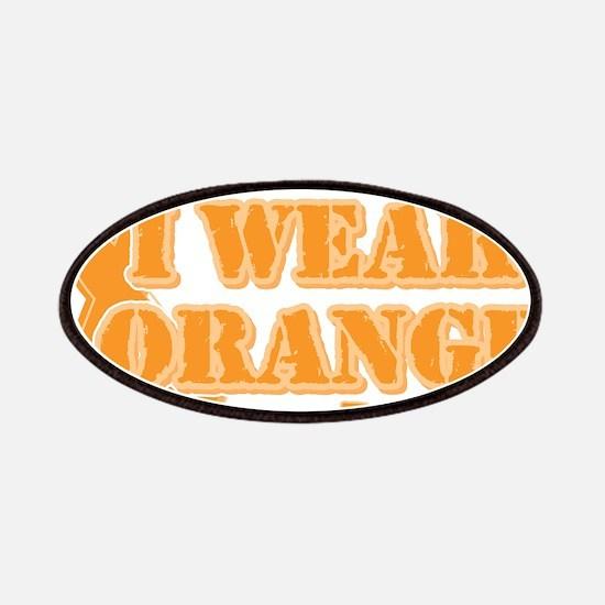 I wear orange friend Patches