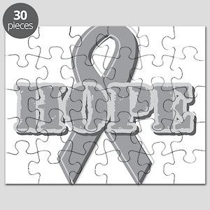 Silver Hope Ribbon Puzzle