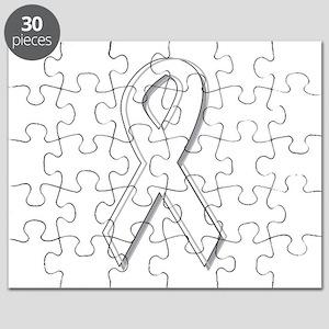 White Awareness Ribbon Puzzle