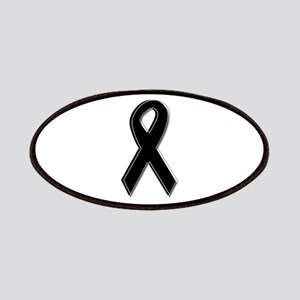 Black Awareness Ribbon Patches