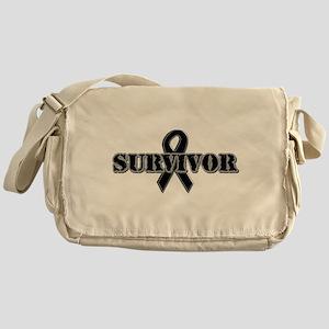 Black Ribbon Survivor Messenger Bag