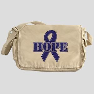 Purple Hope Ribbon Messenger Bag