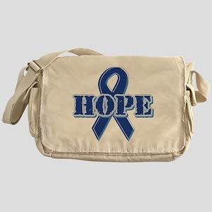 Blue Ribbon Hope Messenger Bag