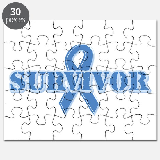 Light Blue Survivor Puzzle