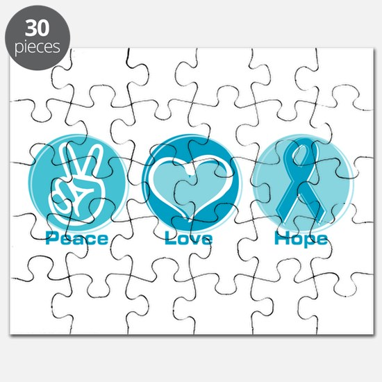 Peace Love Teal Hope Puzzle