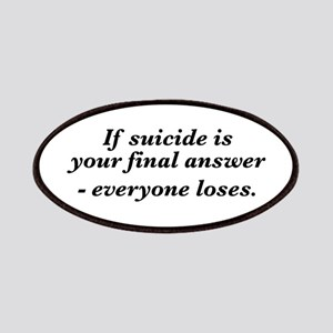 Suicide Final Answer Patches