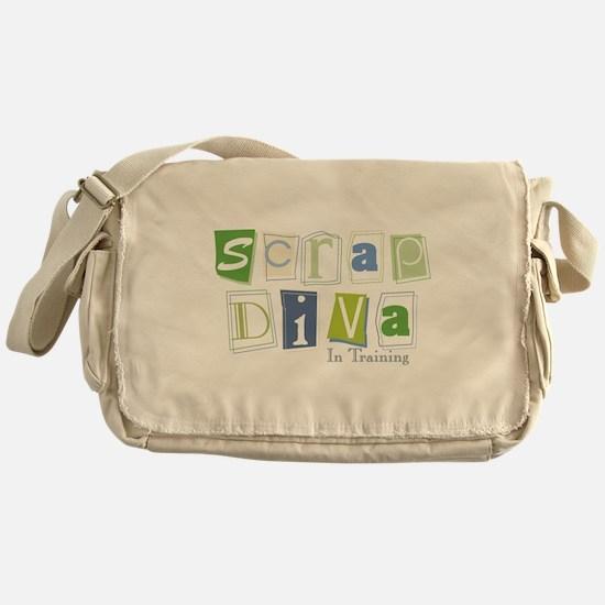 Scrap Diva (IT) Blue Messenger Bag