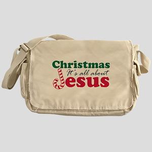 Christmas about Jesus Messenger Bag