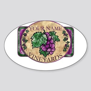 Your Vineyard Sticker (Oval)