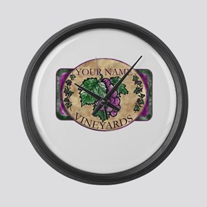 Your Vineyard Large Wall Clock